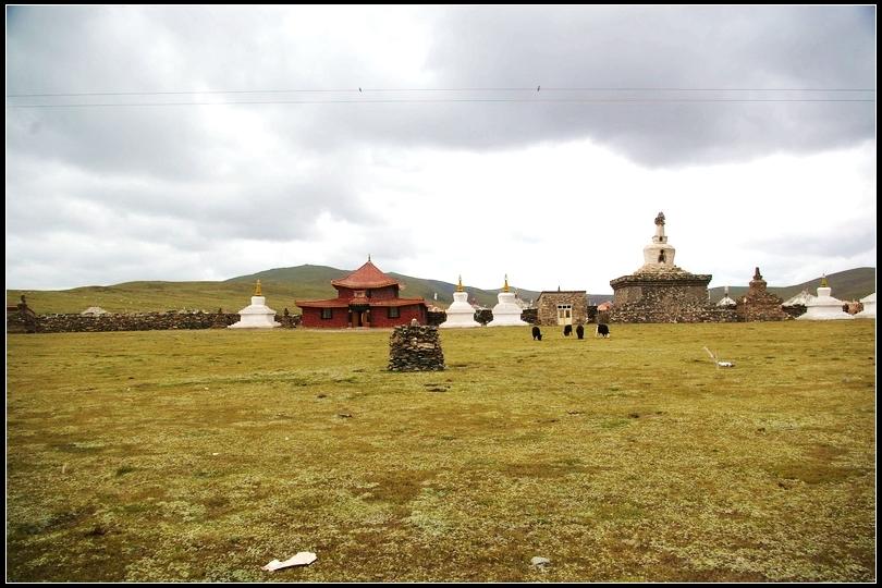 杨扬/扎陵湖、鄂陵湖之间一个叫措哇尕什的小镇,经幡遍地,长达数百米的...