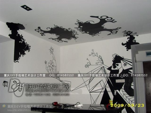 墙画图片大全手绘黑白