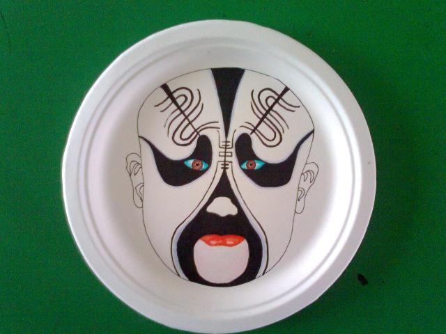 彩绘盘子《京剧脸谱》教学设计
