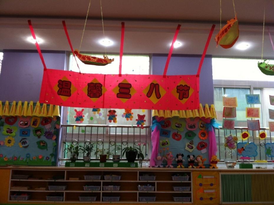 幼儿园超市墙面布置图片