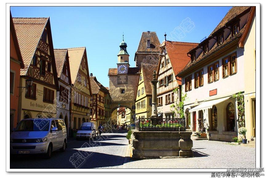 被亚洲游客占领的欧洲小镇图片