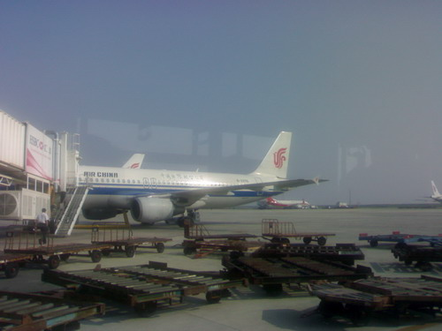 不同的飞机,不同的出发时间,甚至连候机大厅也变成了武汉天河机场新的