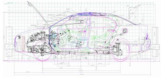 汽车香水手绘图