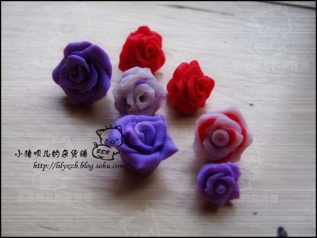 软陶玫瑰花制作方法