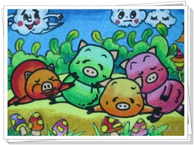 [转载]儿童创意蜡笔画
