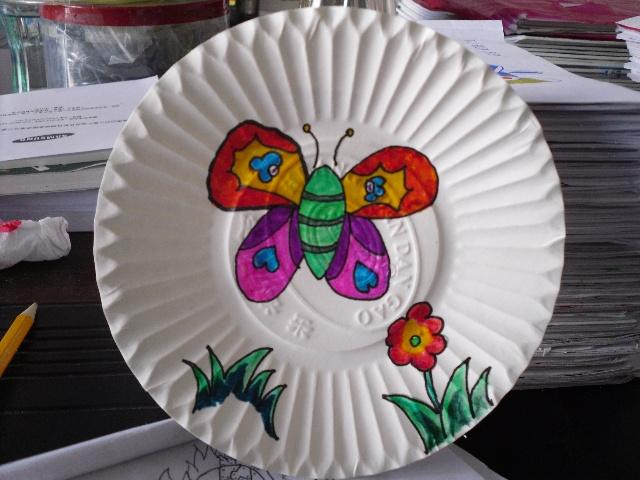 盘子装饰儿童画