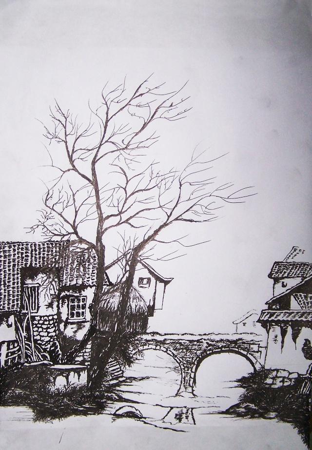 江南古典园林钢笔