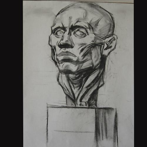 几何脸部素描画法步骤