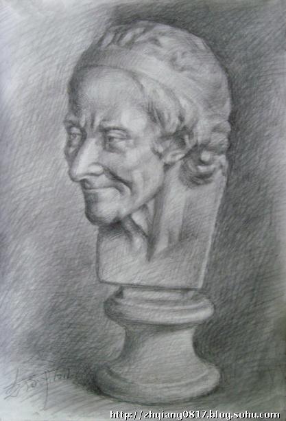 列宾美院素描石膏像 海盗石膏像素描 海盗石膏像素描图片