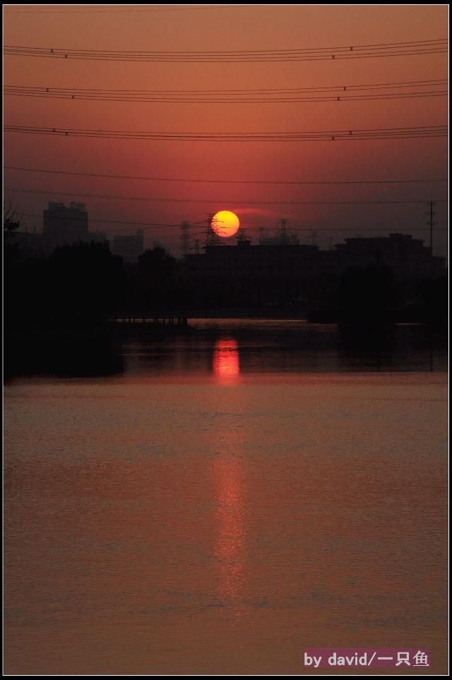 通惠河 五线谱上的夕阳