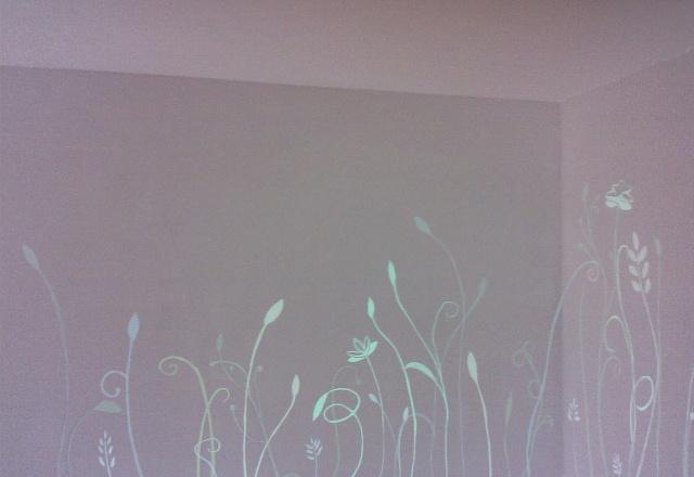 墙体彩绘彼岸花