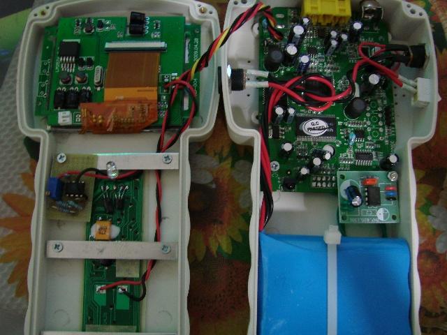 测试完毕后,将所有电路板进行固定组装,就有了图中的成品自制寻星仪.
