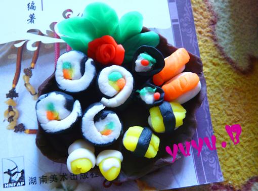 太空泥制作寿司步骤