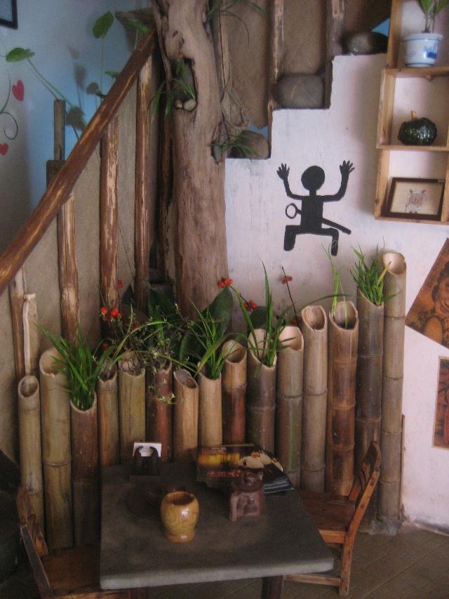幼儿园竹子手工材料室内装饰