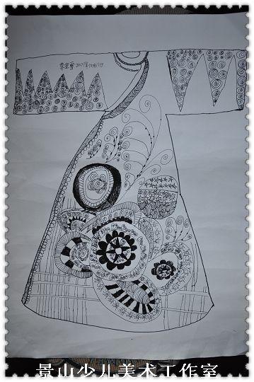 儿童服装线描设计