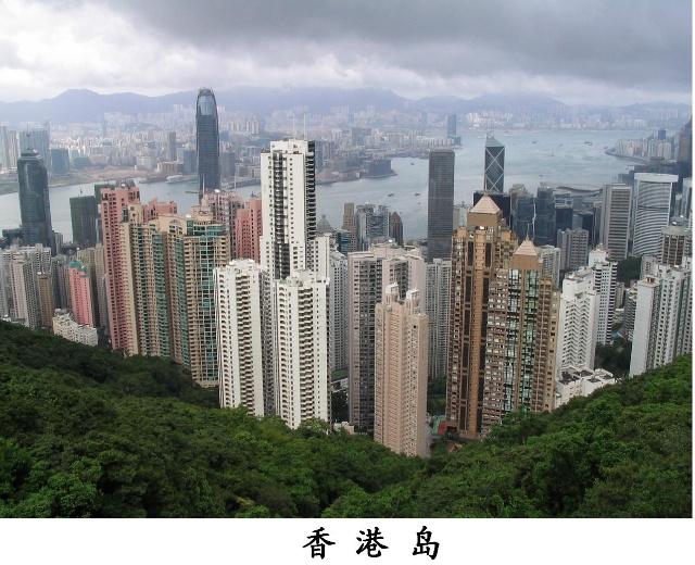 总面积为1070平方公里,共分为4个部份——香港岛,新界,九龙