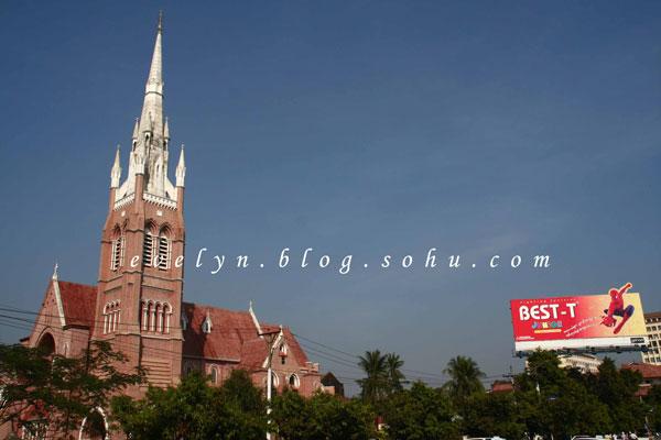 缅甸-烟云中的佛塔-仰光-昂山市场和印度塔-纹身