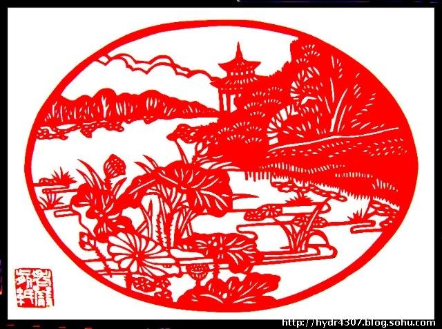 春天来了红纸剪纸画