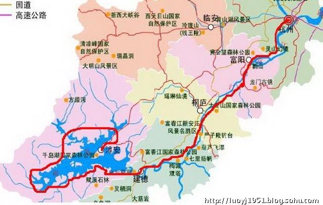 千岛湖坐落在浙江省淳安县境内.