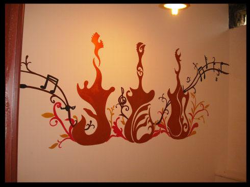 西安手绘墙——广场第五季烧烤 ktv店