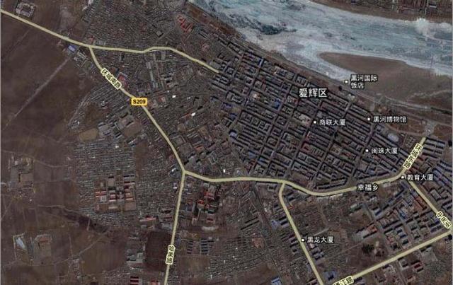 黑河市爱辉区地图