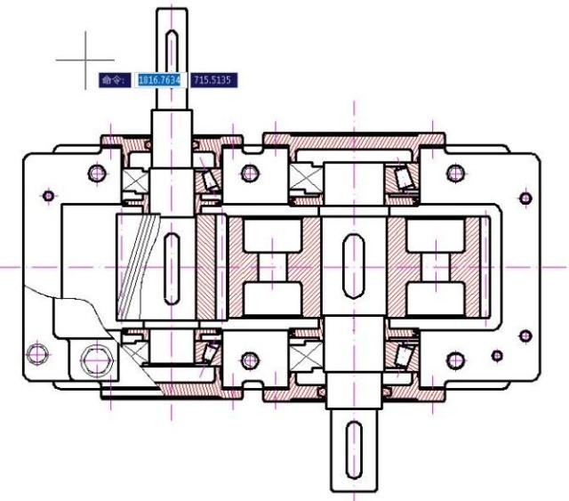 主减速齿轮零件图_一级圆柱齿轮减速器的CAD-求一级圆柱齿轮减速器装配图及零件图