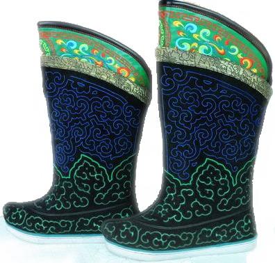 蒙古族靴子图片