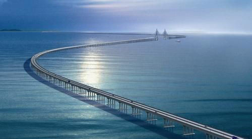 杭州湾跨海大桥南起于宁波慈溪水路湾,北止于嘉兴海盐郑家埭,全