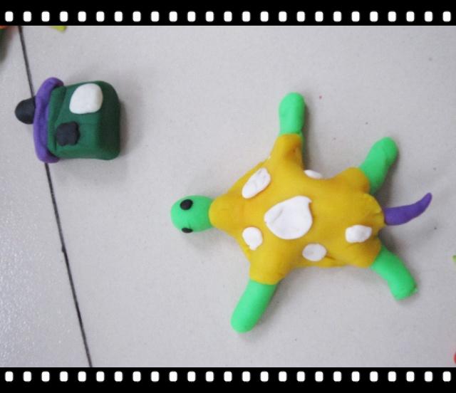 4橡皮泥制作小乌龟
