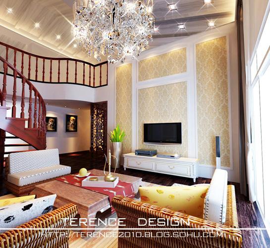 别墅楼顶斜坡设计图片_别墅图片