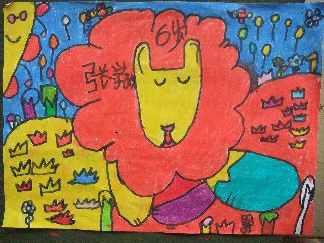 儿童画画图片大全狮子头