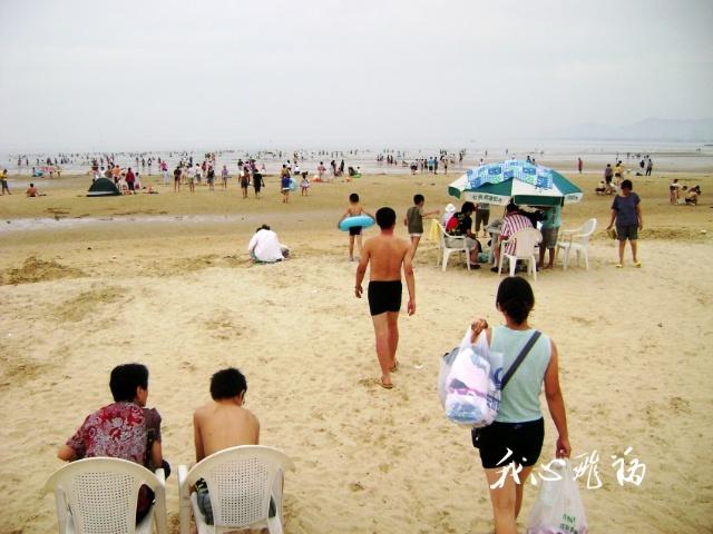 养马岛海水浴场游泳