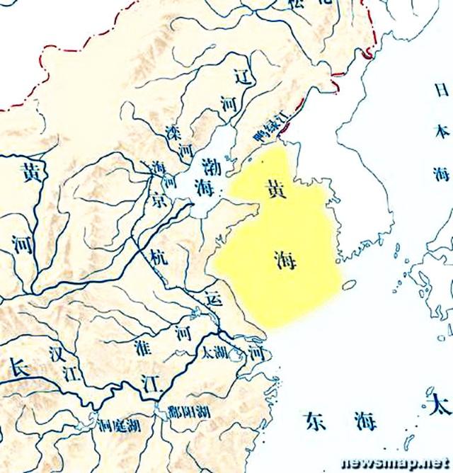 东端穿过渤海海峡的庙岛群岛与黄海相通