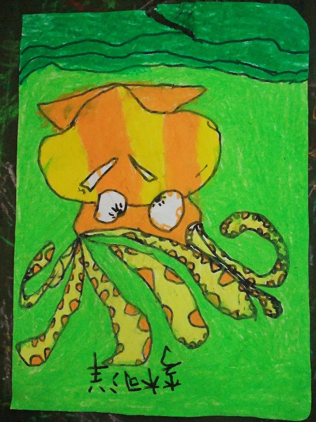 简笔画—小章鱼