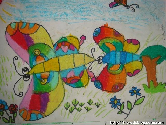 幼儿绘画作品--蝴蝶