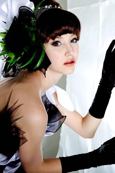 个性艺术写真:英伦黑白格调绽放璀璨光芒