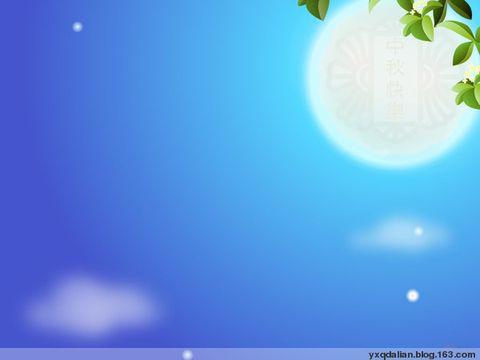 淡雅月亮中国风背景素材