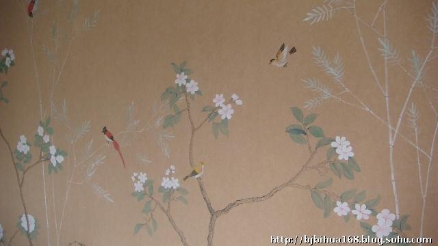 丝绸手绘墙纸-北京悦嘉艺术-搜狐博客