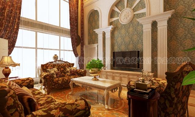 罗马柱做以装饰,以塑造欧式宫廷的奢华、尊贵.造型古典精致,