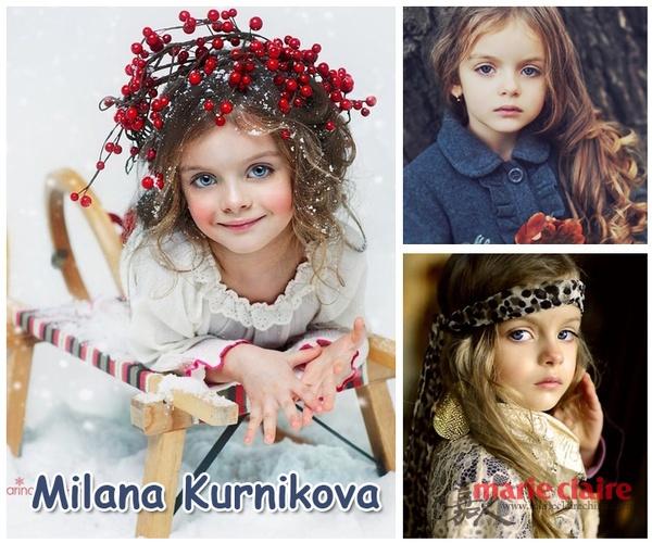 milana kurnikova是来自俄罗斯的四岁金发小美女,她有着一张宛如洋图片
