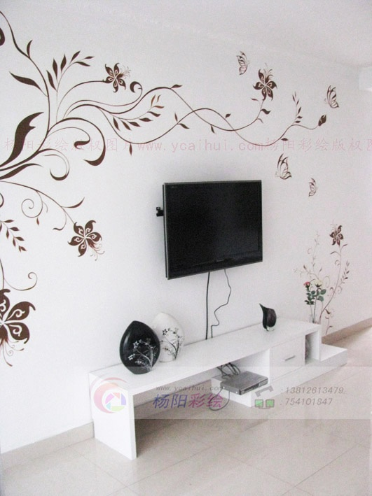 苏州手绘墙(简约风格中-黑白灰色调家居)